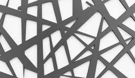 Black and white chaos mesh Stock Photo