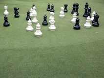 Black and white character chess game Stock Images