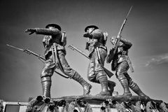 Black and White Charlottetown War Memorial Royalty Free Stock Images