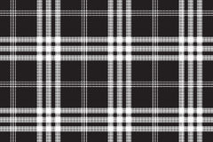 Black and white check pixel square fabric texture seamless patte Royalty Free Stock Photos
