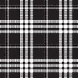 Black and white check pixel square fabric texture seamless patte. Rn. Vector illustration Stock Photography