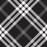 Black and white check pixel square fabric texture seamless. Pattern. Vector illustration Royalty Free Stock Images