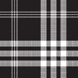 Black and white check pixel square fabric texture seamless  Royalty Free Stock Photos