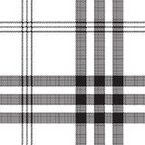 Black white check pixel square fabric texture seamless pattern. Vector illustration Stock Image