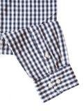 Black and white check shirt sleeve Stock Image