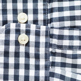 Black and white check shirt sleeve and button Royalty Free Stock Image