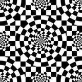 Black white check square style seamless pattern Stock Photos