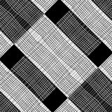 Black and White Check Stipes Pattern Stock Image