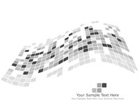 Black and white checked background Stock Image