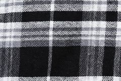 Black & white checked material background Stock Photography