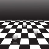 Black and white checker. A large black and white checker floor background pattern Royalty Free Stock Images