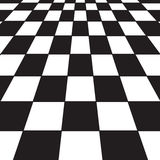 Black and white checker. A large black and white checker floor background pattern Stock Image