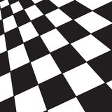 Black and white checker. A large black and white checker floor background pattern Stock Photography