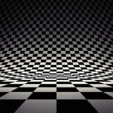 Black and white checker. 3d rendered image Royalty Free Stock Photos