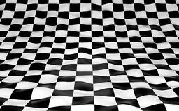 Black and white checker background. 3d render. Ing Royalty Free Stock Image