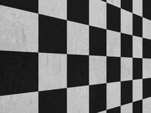 Black and white checker floor background pattern Royalty Free Stock Photo