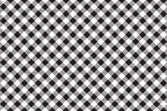 Black white checkerboard check diagonal seamless background Stock Photos