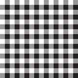 Black white checkerboard check textile seamless pattern Royalty Free Stock Photo