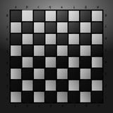 Black and white checkerboard on a glass background. Vector illustration. Royalty Free Stock Photos