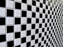 Black and white checkerboard tiles Stock Images