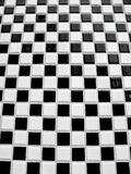Black and white checkerboard tiles Stock Photography