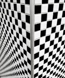 Black and white checkerboard tiles Stock Photos