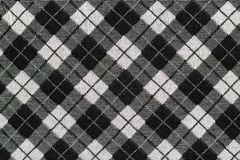 Black and white checkered fabric Royalty Free Stock Images