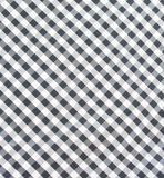 Black and white checkered fabric closeup Stock Photos