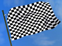 Black & white checkered flag Royalty Free Stock Photos