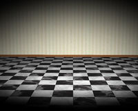Black White Checkered Floor Illustration Royalty Free Stock Images