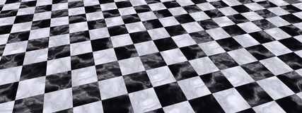 Black White Checkered Floor Illustration Royalty Free Stock Photos