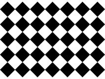 Black and white checkered floor tiles royalty free illustration