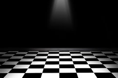 Black and white checkered floor Stock Image