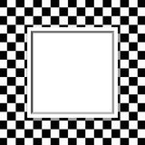 Black and White Checkered Frame with Frame Background Stock Images