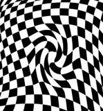 Black-white  checkered plane Stock Images