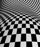 Black-white  checkered plane Stock Image