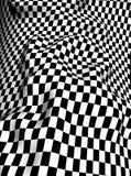 Black-white  checkered plane Royalty Free Stock Image