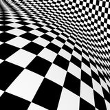 Black-white  checkered plane Royalty Free Stock Photography