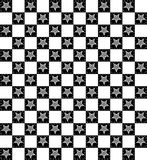 Black and White Checkered Star Pattern Stock Photos
