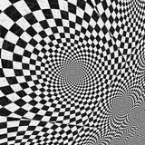 Black and white checkered texture. Abstract black and white checkered background with perspective effect Royalty Free Stock Image