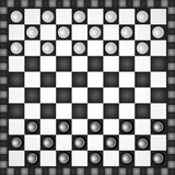 Black and white checkers Royalty Free Stock Photos