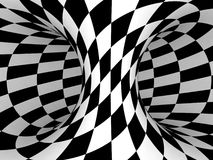 Black and White Checkers Stock Photography