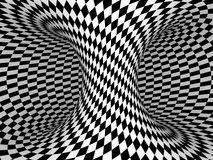 Black and White Checkers Stock Image