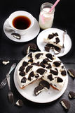 Black and white cheese cake Royalty Free Stock Photos