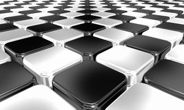 Black and white chequered background Stock Photo