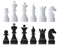 Black & White Chess Army Stock Images