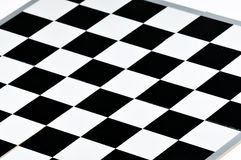 Black and white chess board Stock Images
