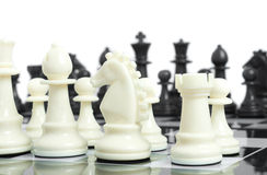Black and white - chess on board Royalty Free Stock Photos
