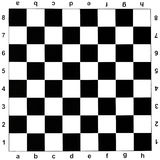 Black and white chess board. Black and white checks of chess board Royalty Free Stock Photos