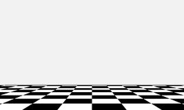 Black and white chess board in different perspective. Vector Royalty Free Stock Photography